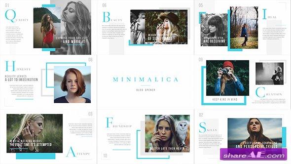 Videohive Minimalica // Blog Opener