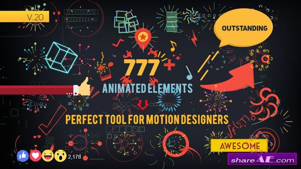 Shape Elements v2.0 7826596 - After Effects Project (Videohive)