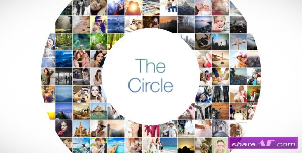 Videohive The Circle Mosaic Slideshow