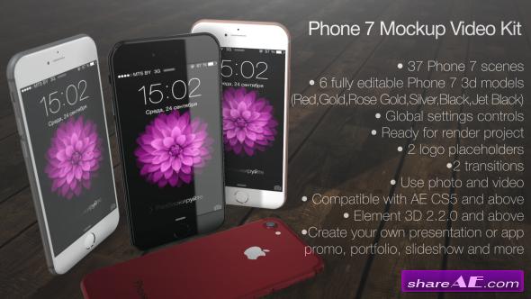 Videohive Phone 7 Mockup Video Kit