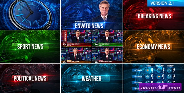 Videohive Broadcast Design News Package 19550533