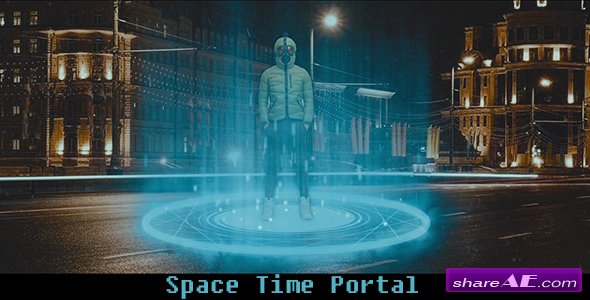 Videohive Space - Time Portal - Motion Graphic