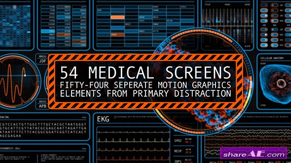 Videohive 54 Medical Screens - Motion Graphic