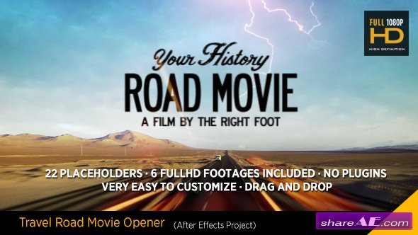Videohive Travel Road Movie