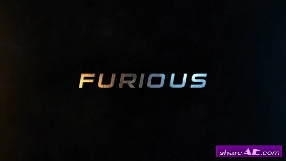 Videohive Furious | 50 Titles Presets