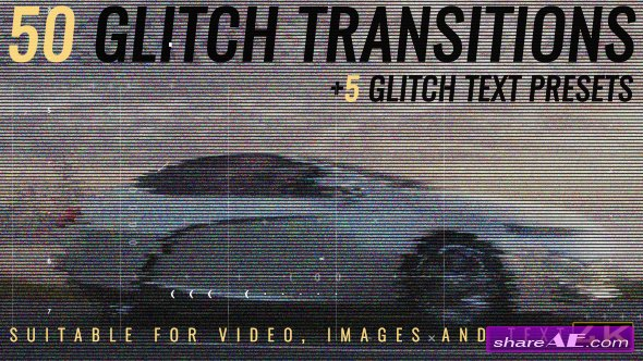 Videohive Glitch Transitions