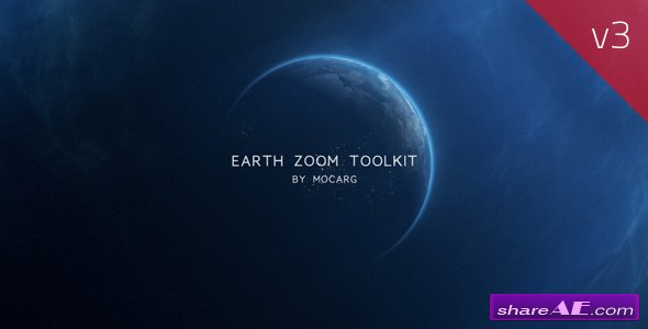 Videohive Zoom On Earth And Logo Reveal V2 » free after