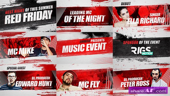 Videohive Music Event 3 // Grunge Promo