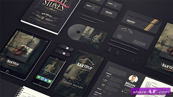 Videohive Black Mock-up Video Presentation