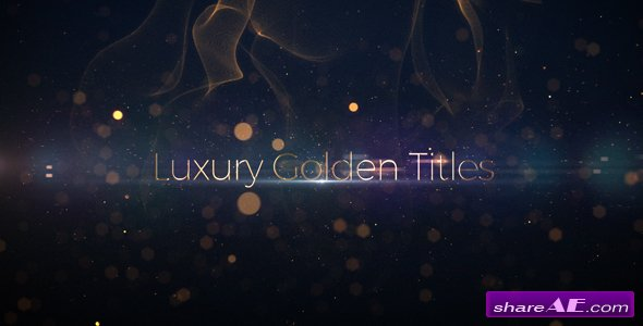 Videohive Luxury Golden Titles
