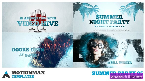 pool party » free after effects templates | after effects