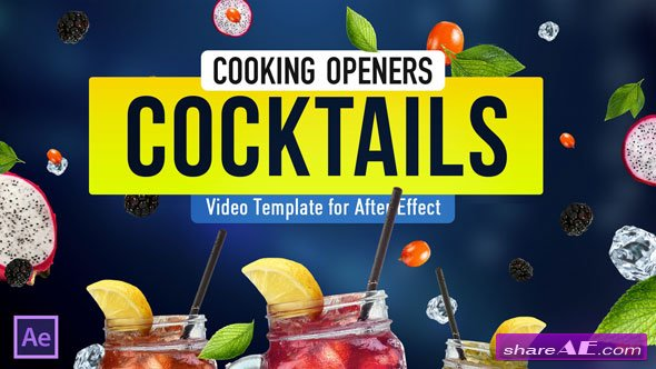 Videohive Cooking Design Pack - Cocktails