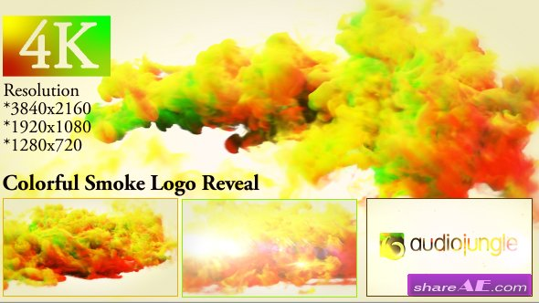 Videohive Colorful Smoke Logo Reveal