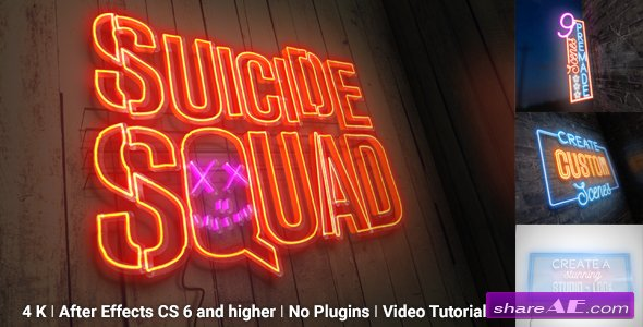 Videohive Neon Sign Kit With Photo Motion