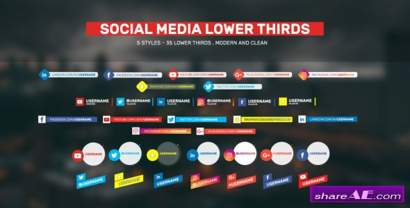Videohive Social Lower Thirds
