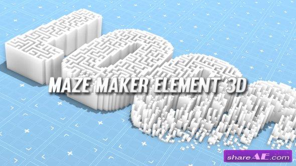 Videohive Maze Maker Element 3D