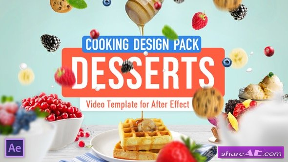 Videohive Cooking Design Pack - Desserts