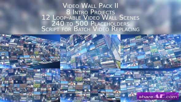 Videohive Video Wall Pack II