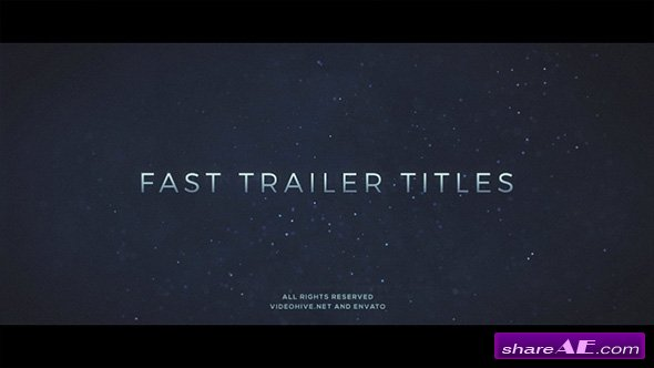 Videohive Fast Trailer Teaser