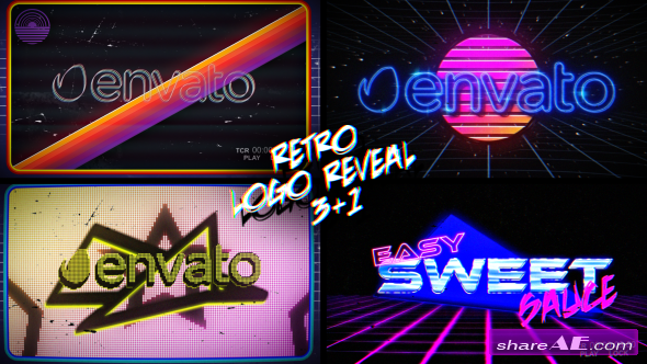 Videohive Retro Logo Reveal Pack Vol.2