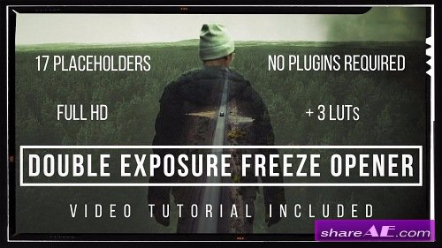 Double Exposure Freeze Opener - After Effects Template (Motion Array)