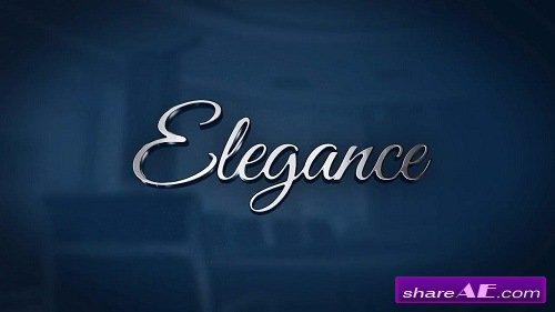 Elegance - Reflective 3D Logo - After Effects Template (Motion Array)