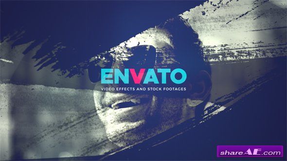 Videohive Media Brush Logo Intro