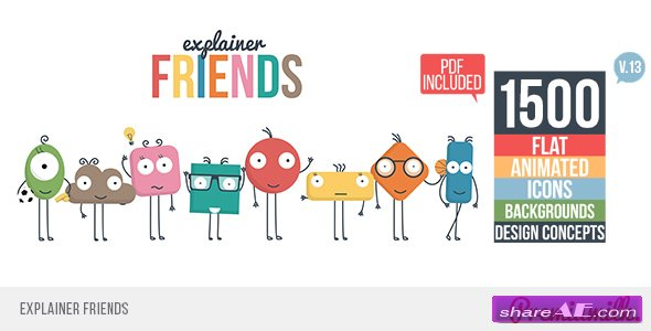 Videohive Explainer Friends