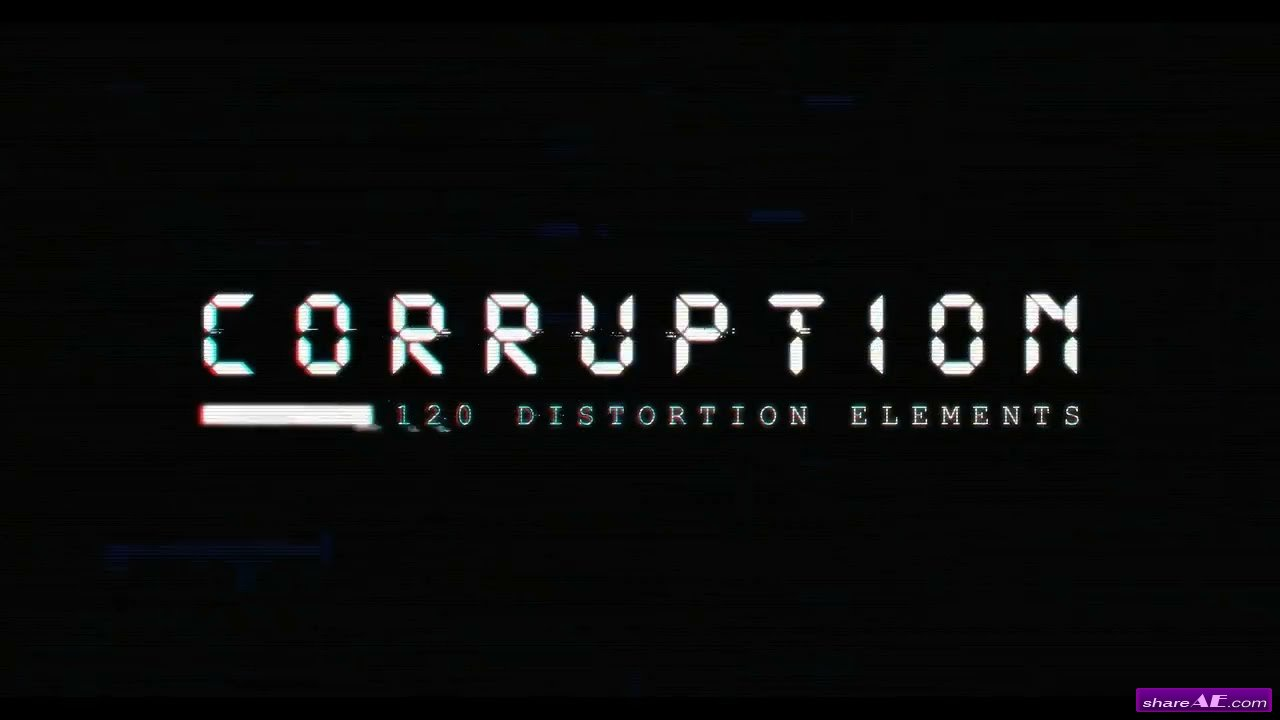 Corruption - 120 Distortion Elements 4k/ 20 SFX - Rocketstock
