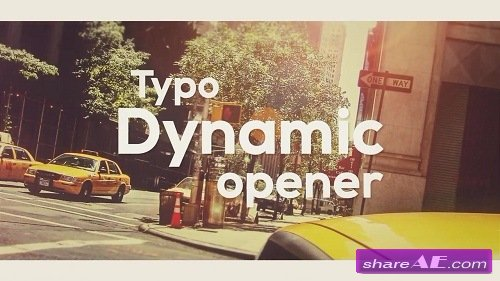 Typo Dynamic Opener - After Effects Template (Motion Array)
