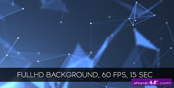 Videohive Blue Crystal Lattices Background - Motion Graphic