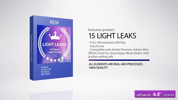 Videohive Light Leaks - Motion Graphic