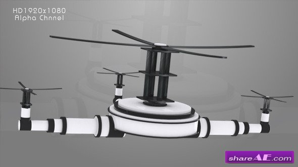Videohive Television - Drone Animation - Motion Graphic