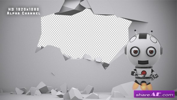 Videohive Robot SS2 - Wall Destruction - Motion Graphic