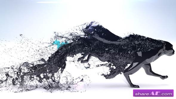 Videohive Black Trails Logo Reveal