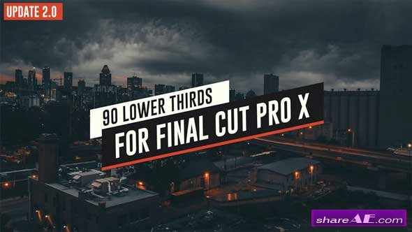 Videohive 90 Final Cut X Lower Thirds Pack - Apple Motion Templates