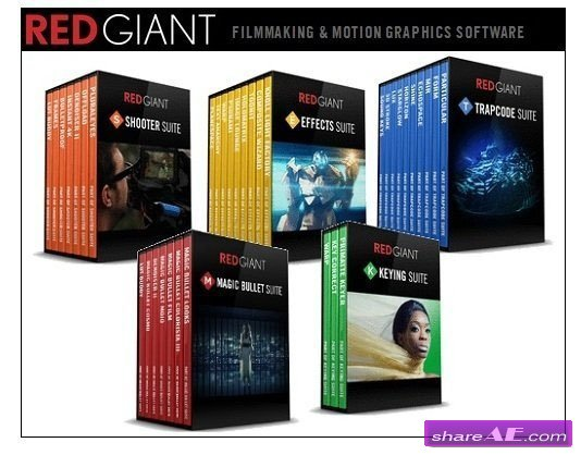 Red Giant Complete Suite 2017 for Adobe CS5 - CC 2017 (For WIN)