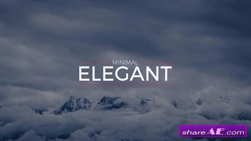 Elegant Minimal Titles - After Effects Template (Motion Array)