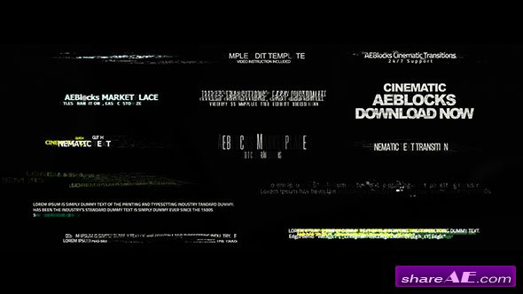Videohive Cinematic Glitch Titles 2