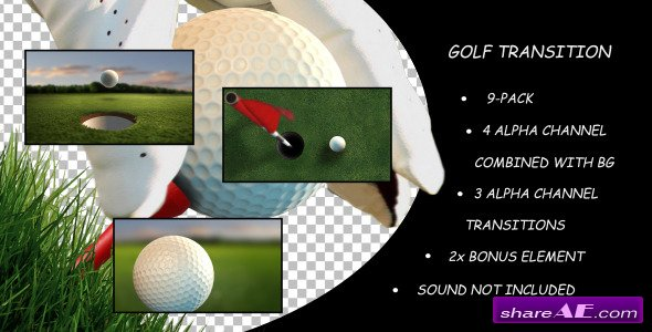 Videohive Golf Transition 9-Pack - Motion Graphic