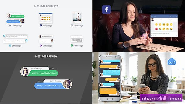 Videohive SMS Messages Chat Notify Elements