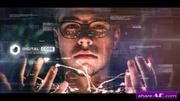 Videohive Digital Code Slideshow