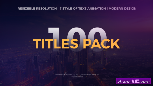 Videohive The Titles Pack
