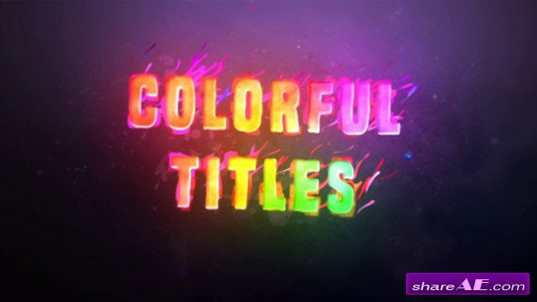 Videohive Colorful Titles 20198053