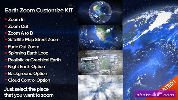 Videohive Zoom On Earth Suite V2 » free after effects