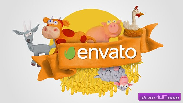 Videohive Clay Farm Animals