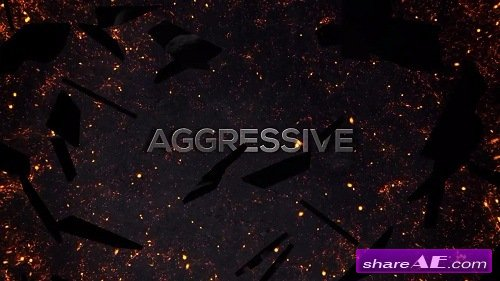 Screen Shatter Aggressive Trailer - After Effects Template (Motion Array)