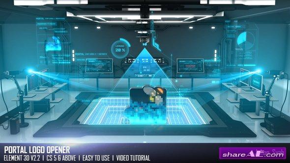 Videohive Portal Logo Opener
