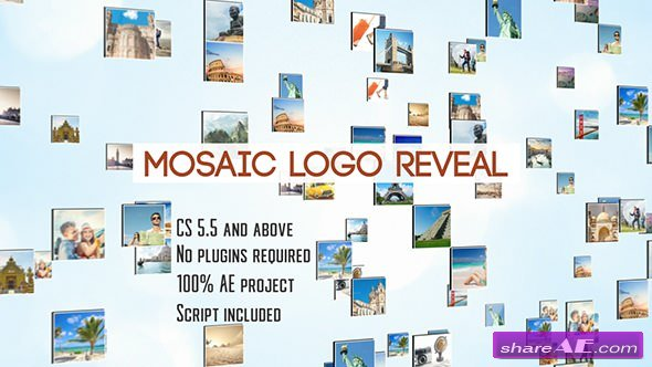 Videohive Mosaic Logo Reveal