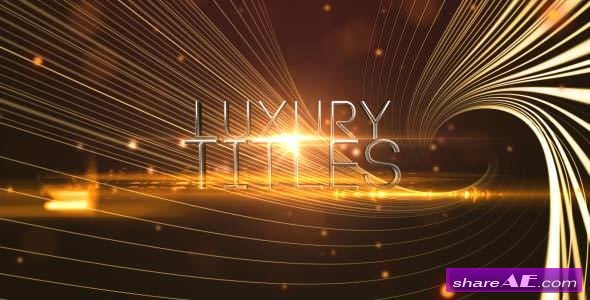 Videohive Elegant Luxury Titles